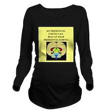 smart brain joke gifts apparel Long Sleeve Materni