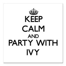 """Keep Calm and Party with Ivy Square Car Magnet 3"""""""