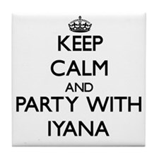 Keep Calm and Party with Iyana Tile Coaster