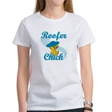 Roofer Chick #3 Tee
