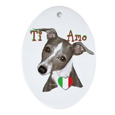 Italian Greyhound ti amo Ornament (Oval)