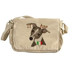 Italian Greyhound ti amo Messenger Bag
