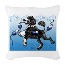 Portuguese Water Dog Woven Throw Pillow