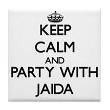 Keep Calm and Party with Jaida Tile Coaster