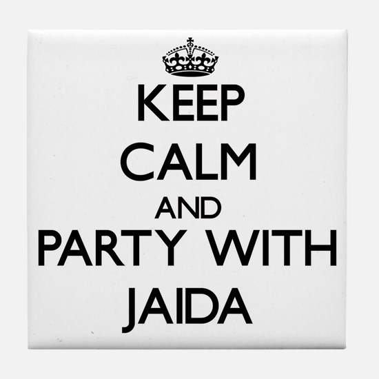 Keep Calm and Party with Jaida Tile Coaster