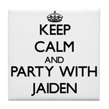 Keep Calm and Party with Jaiden Tile Coaster