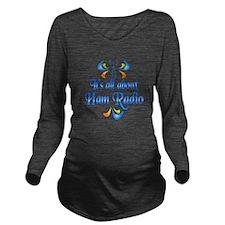 About Ham Radio Long Sleeve Maternity T-Shirt