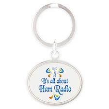 About Ham Radio Oval Keychain