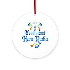 About Ham Radio Ornament (Round)