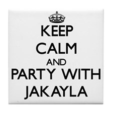 Keep Calm and Party with Jakayla Tile Coaster