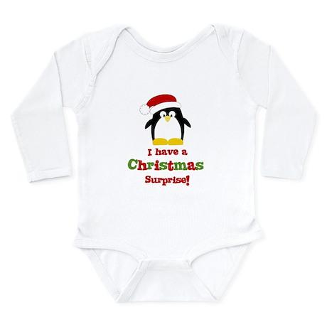 christmas surprise penguin Body Suit