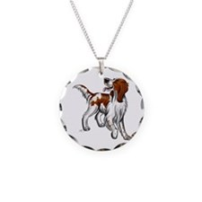Irish Red And White Setter Necklace