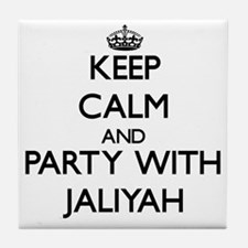 Keep Calm and Party with Jaliyah Tile Coaster
