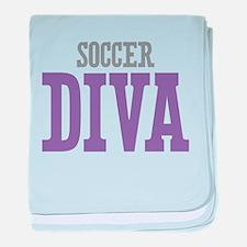 Soccer DIVA baby blanket