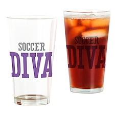 Soccer DIVA Drinking Glass