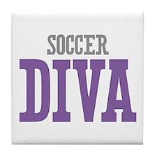 Soccer DIVA Tile Coaster