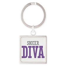 Soccer DIVA Square Keychain