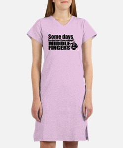 Middle Fingers Women's Nightshirt