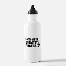 Middle Fingers Sports Water Bottle