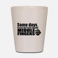 Middle Fingers Shot Glass