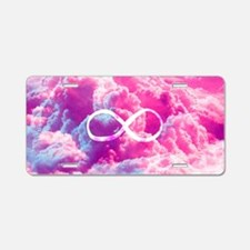 Girly Infinity Symbol Brigh Aluminum License Plate