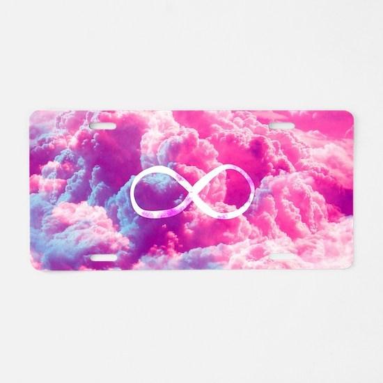 Girly Infinity Symbol Brigh Aluminum License Plate
