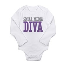 Social Media Long Sleeve Infant Bodysuit