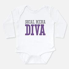 Social Media Long Sleeve Infant Bodysuit