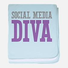 Social Media baby blanket