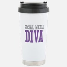 Social Media Stainless Steel Travel Mug