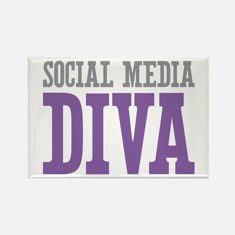 Social Media Rectangle Magnet