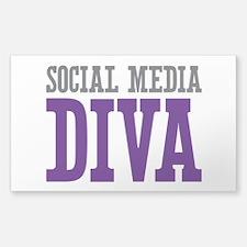 Social Media Sticker (Rectangle 10 pk)