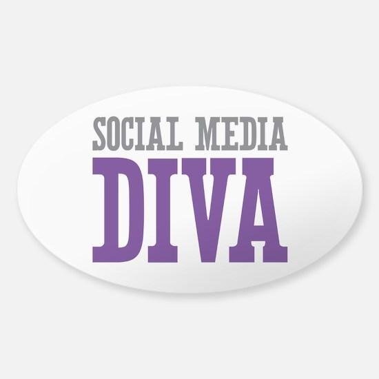 Social Media Sticker (Oval)