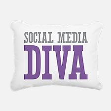 Social Media Rectangular Canvas Pillow