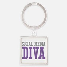 Social Media Square Keychain