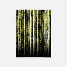 Digital Rain - Yellow 5'x7'Area Rug