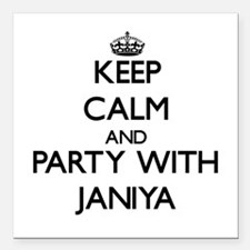 Keep Calm and Party with Janiya Square Car Magnet