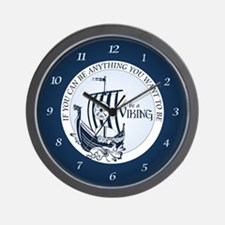 Be A Viking Wall Clock