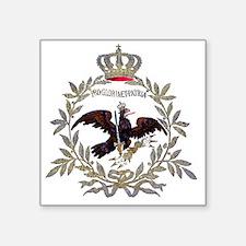 """Prussian Eagle 1741 Square Sticker 3"""" x 3"""""""