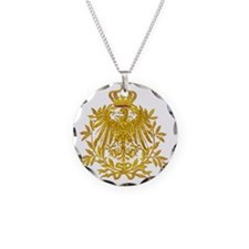 Gold German Eagle crest Necklace