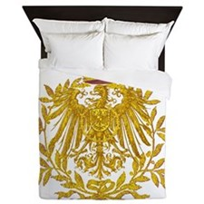 Gold German Eagle crest Queen Duvet