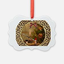Makeup Christmas Tree Cheetah Ornament