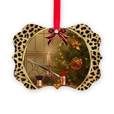 Makeup Christmas Tree Cheetah Picture Ornament