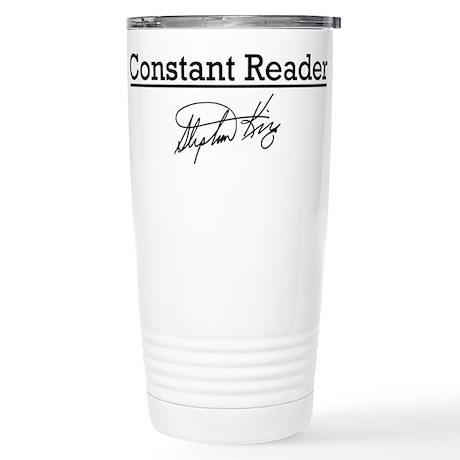 Constant Reader Stainless Steel Travel Mug