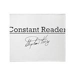 Constant Reader Throw Blanket