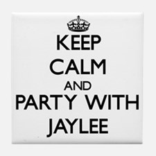 Keep Calm and Party with Jaylee Tile Coaster
