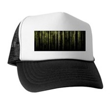 Digital Rain - Yellow Trucker Hat