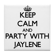 Keep Calm and Party with Jaylene Tile Coaster