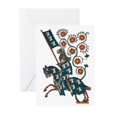Medieval Knight with Eagle Coat of A Greeting Card