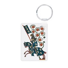 Medieval Knight with Eagle Keychains